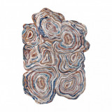 Covor TINE 75312A Copac Lemn - formă modernă, neregulată - teracotă / albastru, 160x220 cm, Asimetric, Polipropilena