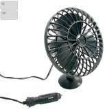 Ventilator auto Carpoint 12V cu rama de plastic , mufa de bricheta si ventuza de fixare