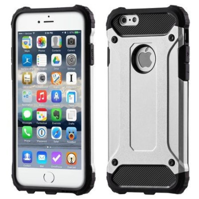 Husa Digitech Shock Shield pentru iPhone 6, Jet Silver foto