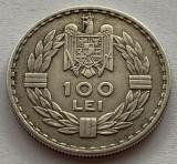 100 Lei 1932 Londra, Argint, Romania, exfoliere, Superba, Luciu de batere