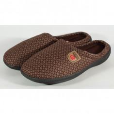 Papuci de casa maro din plus - 12630