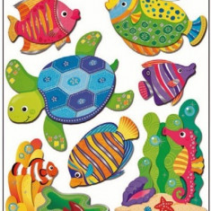 Room Decor Sticker de perete 3D Animale din ocean 50x30 cm