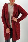 Cardigan din tricot cu gluga 3