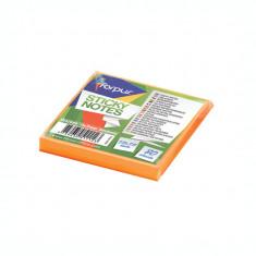 Notite adezive Forpus 42011 75x75mm 80 file portocaliu