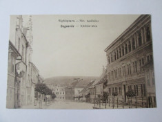 C.arte postala necirculata anii 20 Sighisoara/Strada Asilului foto