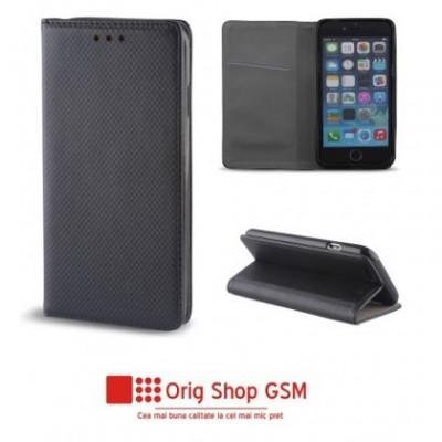 "Husa Flip Carte Smart Universal 5,5"" - 5,7"" inch Negru foto"