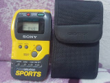 RADIO PORTABIL SONY FM/AM WALKMAN SPORTS SRF-M70 PERFECT FUNCTIONAL+CASTI BONUS