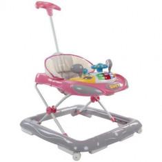 Premergator cu Control Parental Super Car Roz cu Gri, Sun Baby