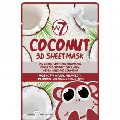 Masca cu Cocos Colagen si Vitamina E W7 Coconut 3D Sheet Mask 18 g