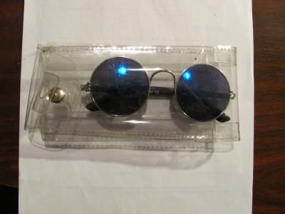 """PVM - Ochelari de soare polarizati """"POSJ / CE"""" retro John Lennon albastru inchis foto"""