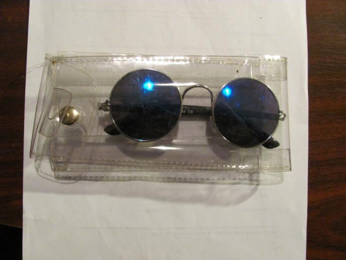 """PVM - Ochelari de soare polarizati """"POSJ / CE"""" retro John Lennon albastru inchis"""