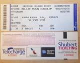 Pentru colectionari, doua bilete intrare Blue Man Group, 16 feb 2020, Orlando