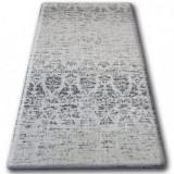 Covor sisal Floorlux 20211 argintiu si negru, 160x230 cm