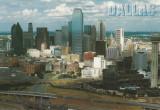 Statele Unite, Dallas, carte poştală ilustrată, circulată în România, 1999