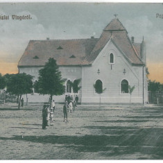 4602 - VINGA, Arad, Market, Romania - old postcard - used - 1911, Circulata, Printata
