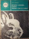 IEPURELE ANGORA, ANIMAL PENTRU LANA SI CARNE-LIVIU ST. REBREANU