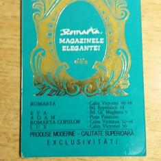 CCO 1975 - CALENDAR DE COLECTIE - TEMATICA RECLAMA MAGAZINUL ROMARTA - ANUL 1975