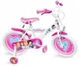 """Bicicleta pentru fetite 16"""" cu roti ajutatoare, ghidon si scaun ajustabil Disney Princess, Stamp"""