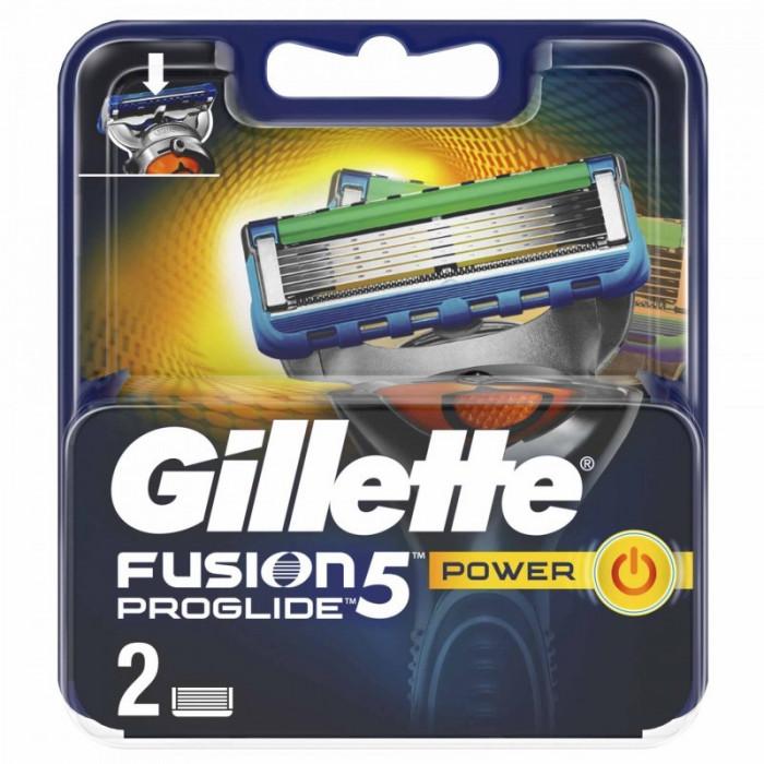 Set 2 rezerve pentru aparat de ras Gillette Fusion Proglide Power, 5 lame