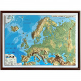Harta fizica si politica a Europei Eurodidactica 3D