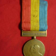 Medalie -Incoronarea de la Alba Iulia -Regele Ferdinand I si Regina Maria 1922