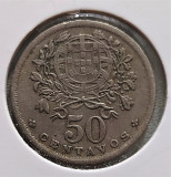 Portugalia 50 centavos 1944, Europa, Cupru-Nichel