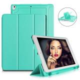"Cumpara ieftin Husa Tableta Apple Ipad 9.7"" 6Th Generation, A1893, A1954, Smartbook ofera protectie Luxury Poket Turquoise"
