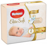 Scutece pentru copii Elite Soft 2, 4-6 kg, 24 bucati, Huggies