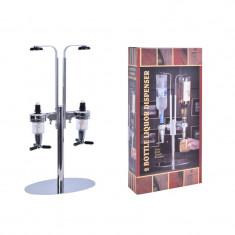 Dispenser Dozator pentru Bauturi cu Suport pentru 2 Sticle 0,7-1 L