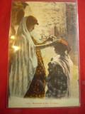 Ilustrata mama si fiica maure- port popular Alger , color, Necirculata, Printata