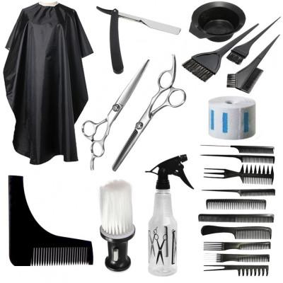 Set kit accesorii ustensile coafor frizerie foarfeca tuns filat brici JAGUAR NOU foto