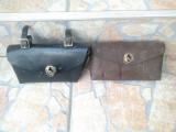 Geanta piele VINTAGE, de COLECTIE, pt Biciclete (maro)