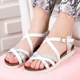 Sandale Maliha albe cu talpa joasa -rl