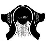 Sabloane Unghii Gel Plastifiate LUXORISE Black, 50 buc
