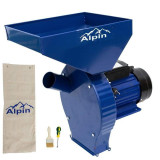 Cumpara ieftin Moara ALPIN-CUVA MARE 3.8KW, 250kg/ora, 100%CUPRU, cu ciocanele macinat cereale si stiulet
