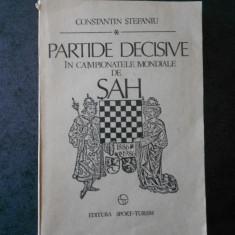 CONSTANTIN STEFANIU - PARTIDE DECISIVE IN CAMPIONATELE DE SAH