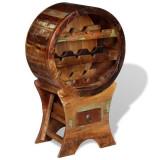 vidaXL Suport pentru 10 sticle de vin, lemn masiv reciclat