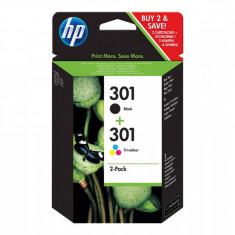 Set cartuse cerneala HP N9J72AE Bundle 301 Black and Tri-color