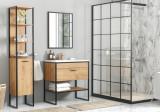 Set Mobilier pentru baie, 4 piese, Brooklin XL