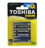 Set 4 baterii alkaline Toshiba R6 Blu Line AA