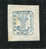 1859 , ROMANIA , CAP DE BOUR 40 PAR - DUBLA AUTENTIFICARE