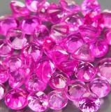 ~50 SAFIRE NATURALE roz PENTRU ANTURAJ 2,3-2,6 mm  Certificat de Autenticitate !