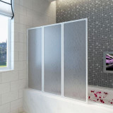Cumpara ieftin Panou separeu pentru baie 141 x 132 cm Pliabil în 3