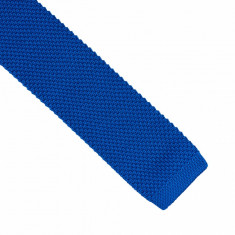 Cravata albastra crosetata casual Brownrigg