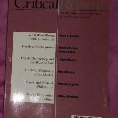 Critical Review - winter 1997 - volum dedicat lui Hayek