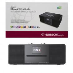 Aproape nou: Radio digital prin internet DAB, FM, BT, DLNA Albrecht DR 690 CD