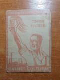 Confederatia generala a muncii - carnet cultural anul 1948 - contine 12 timbre