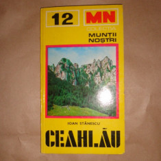 Muntii Ceahlau nr.12 colectia muntii nostri cu harta