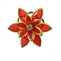 Brosa cu design floare deschisa