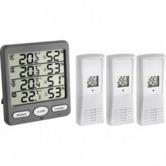 Termo Higrometru cu 3 senzori wireless de exterior TFA